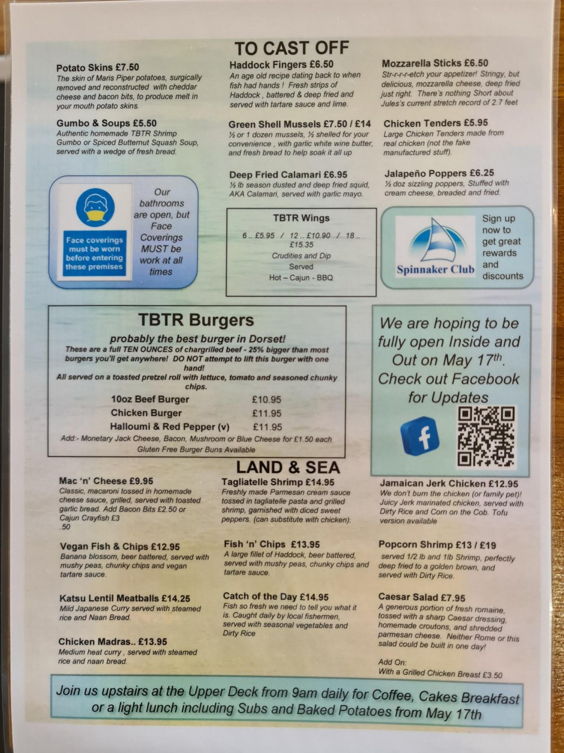 Take A Look At Our Brand New Menu